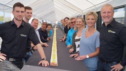 58-meter lange taart, gelukkig zonder kaarsjes