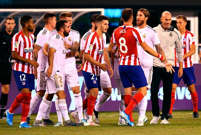 Saúl en Sergio Ramos hebben het met elkaar aan de stok.