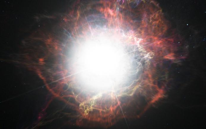 Een supernova. Beeld ter illustratie.
