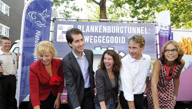 Protest tegen de Blankenburgtunnel Beeld ANP