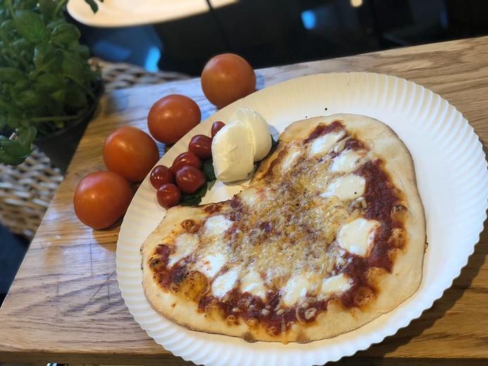 Hartjespizza bij de Jumbo in Den Bosch.