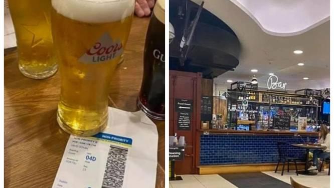 Vriendengroep omzeilt Ierse lockdown en gaat pintelieren op luchthaven