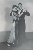 Roosje Glaser en de man die haar zou verraden na hun huwelijk.