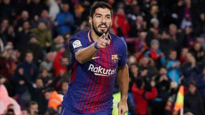 Suarez bezorgt Barcelona zuinige zege in heenwedstrijd halve finale Copa del Rey