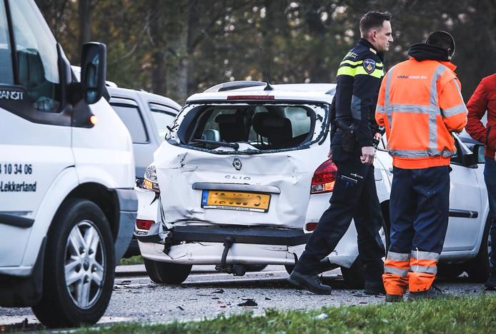 Eén van de vele ongelukken op de N217 bij Mijnsheerenland.