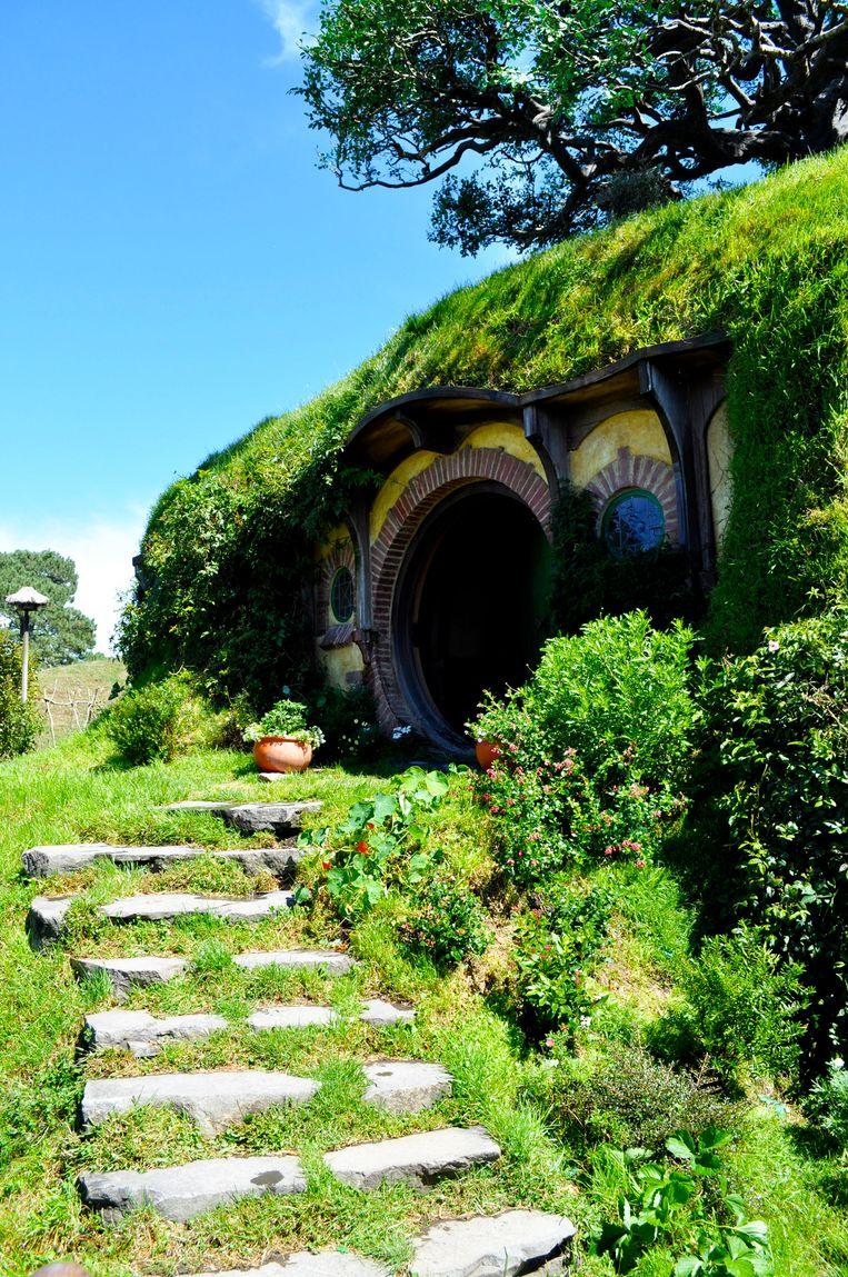 Een Hobbitwoning in Hobbiton.