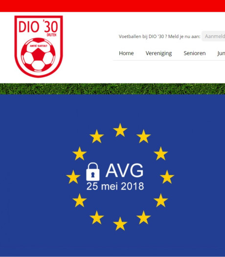 Website voetbalclub op zwart door nieuwe privacywet