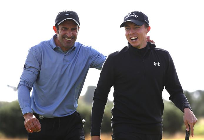 Matthew Fitzpatrick (rechts) en Luis Figo.