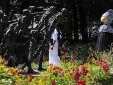 Protest tegen Zwarte Piet tijdens herdenking