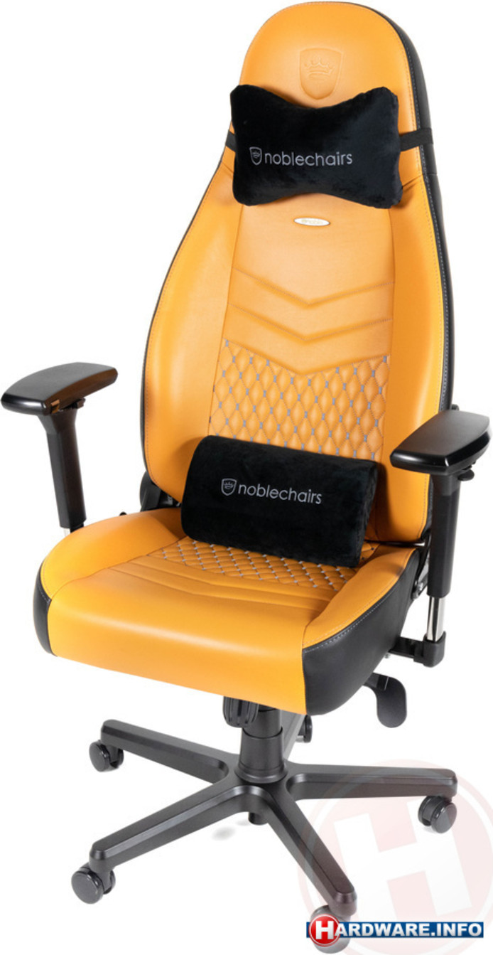 Noble Chairs Icon in de zwart-cognac uitvoering.