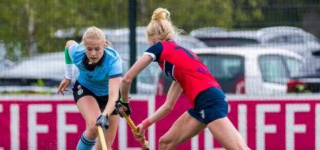 Luna Fokke schoot met haar laatste goal HGC naar hoofdklasse
