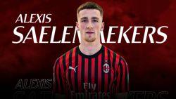 Saelemaekers officieel een speler van AC Milan, dat Belg huurt met verplichting tot aankoop