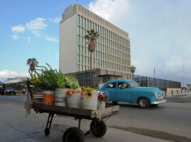 Medewerkers van de Amerikaanse ambassade op Cuba werden voor het eerst getroffen door de geheimzinnige ziekte.  Beeld AFP