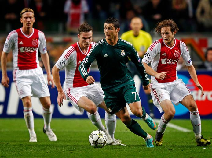 Als speler van Real Madrid scoorde Ronaldo in 2012 drie keer tegen Ajax.