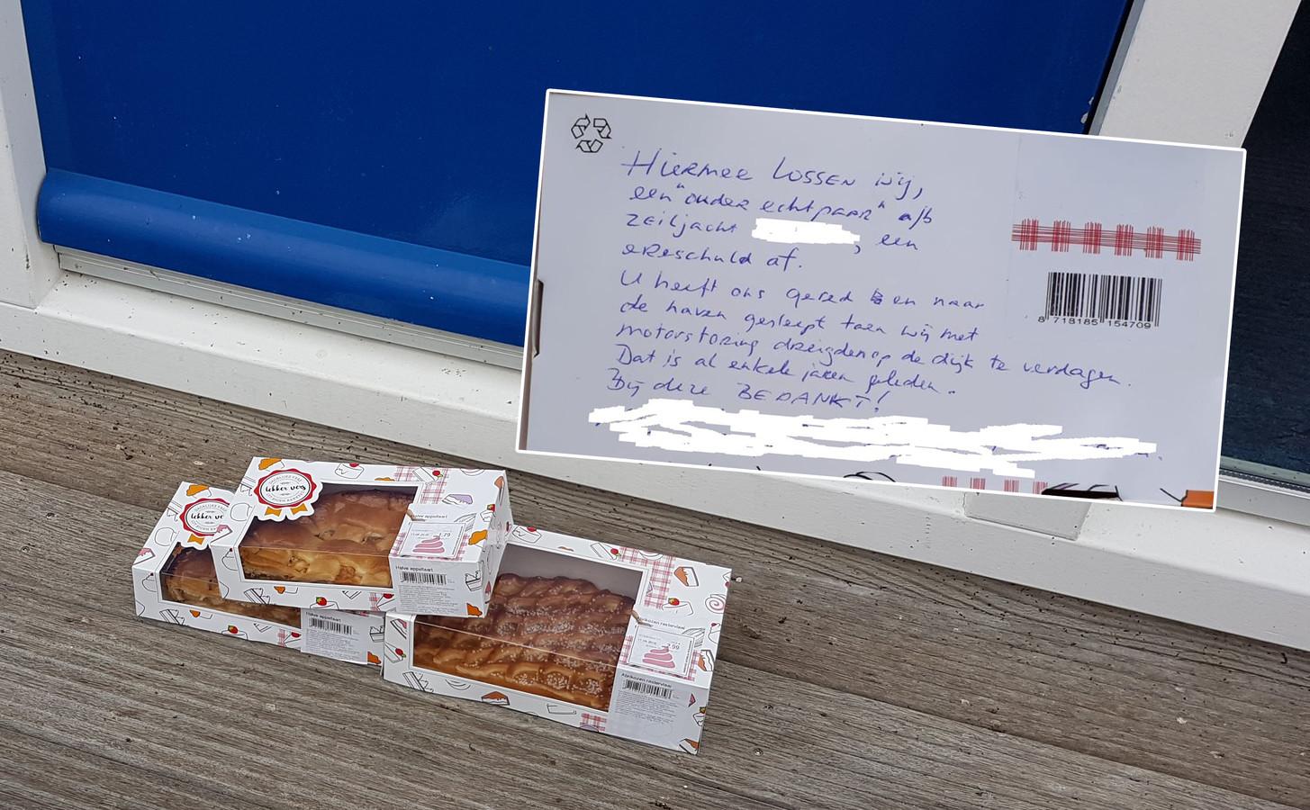 taart urk Ouder echtpaar dankt redders jaren na dato met taart op Urk | Foto  taart urk