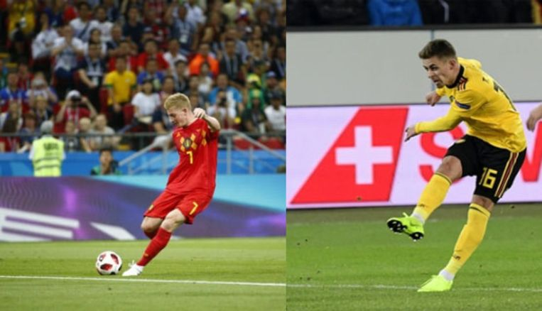 De tweede goal van Thorgan Hazard deed sterk denken aan de knal van Kevin De Bruyne op het WK.