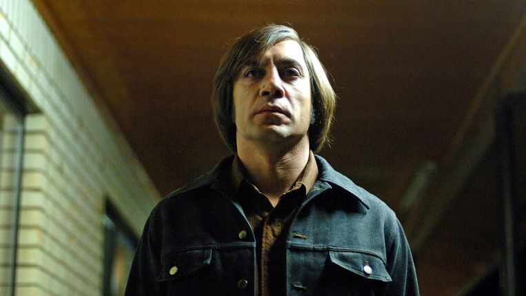 Javier Bardem in No Country for Old Men. Beeld