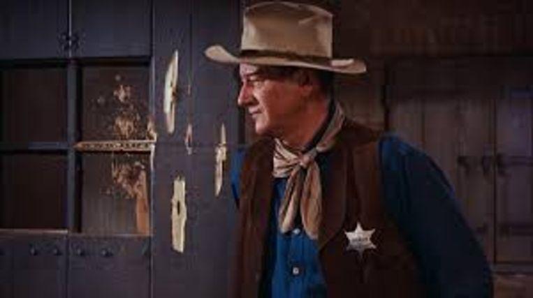 John Wayne in Rio Bravo. Beeld