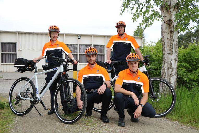 Het fietsteam van de lokale politiezone Bodukap