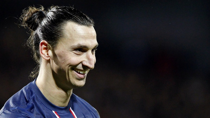 Zlatan Ibrahimovic op het veld.