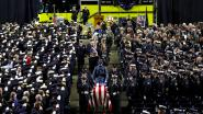 Amerikaanse brandweercommandant sterft op begrafenis van jonge collega