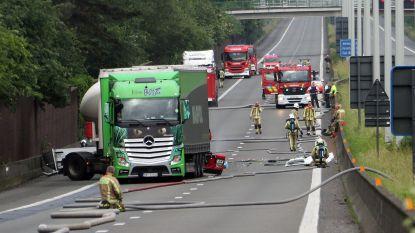 E313 na meer dan 10 uur weer open na gevaarlijke bergingsoperatie na ongeval met tankwagen