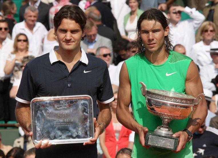 2008 Roland Garros: Nadal wint 6-1, 6-0, 6-3. Beeld AFP