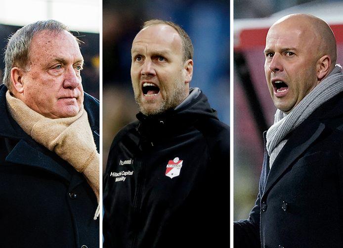 Vlnr: Dick Advocaat, Dick Lukkien en Arne Slot.