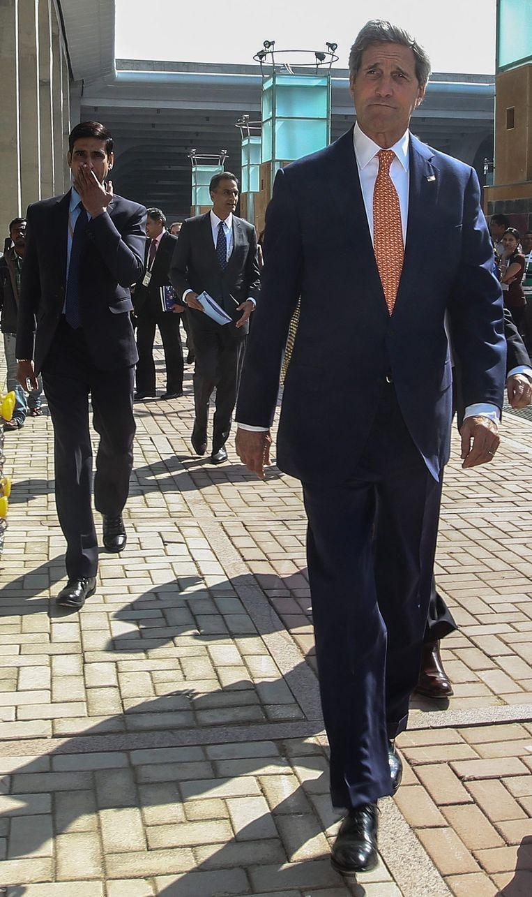 John Kerry vandaag in India. Beeld epa