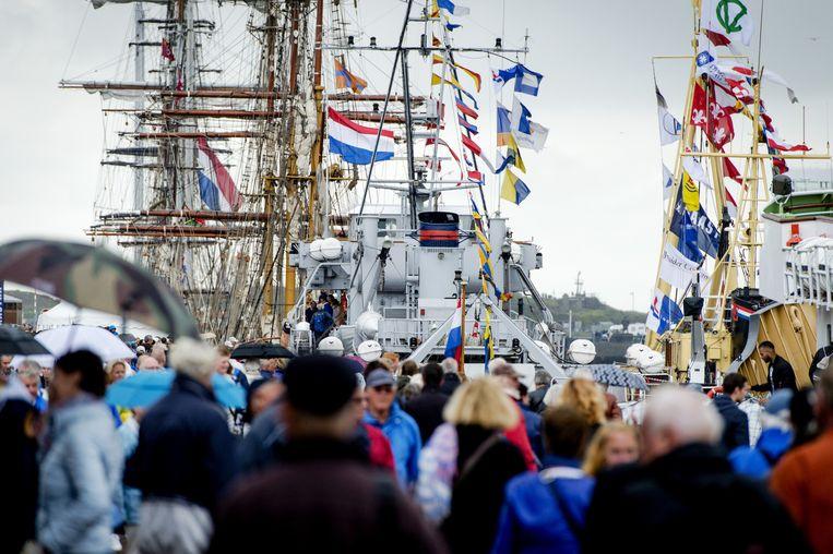 Schepen in de haven van IJmuiden. Beeld anp