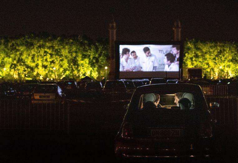 Genieten van een avondje film, vanuit je eigen comfortabele auto.