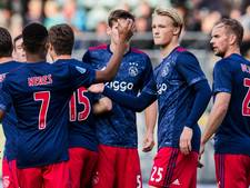 Dolberg loodst Ajax met hattrick voorbij Scheveningen