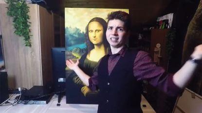 """""""Dat kan ik ook!"""": 21-jarige Vlaming schildert Mona Lisa haarfijn na"""