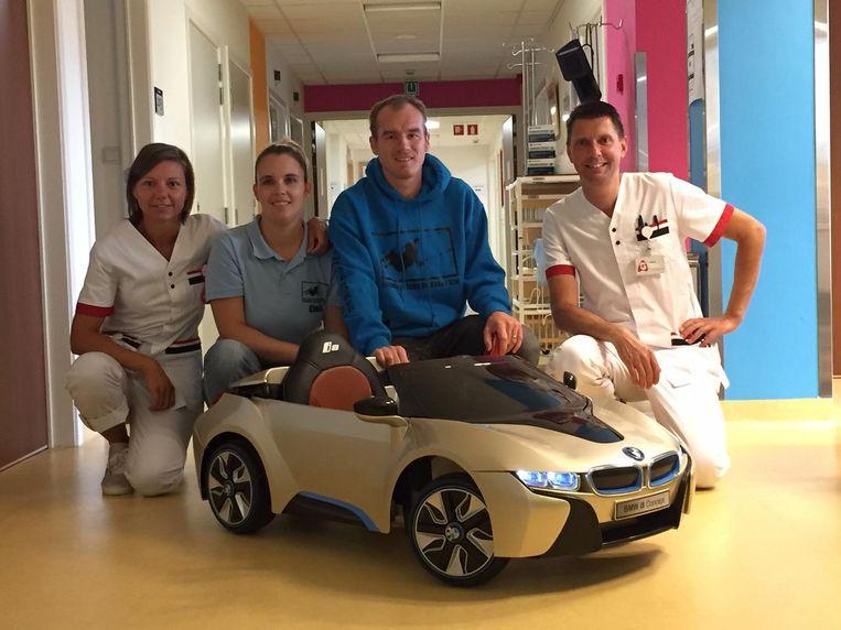 De speelgoedauto van het ASZ in Wetteren.