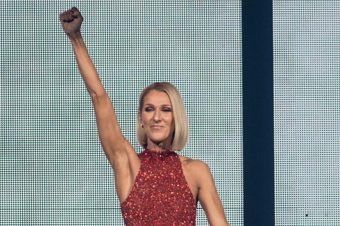 Céline Dion, lors d'un concert au Québec en septembre 2019.