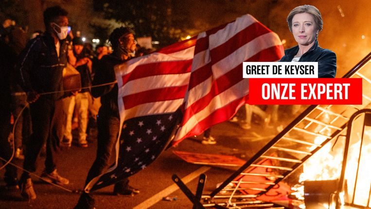 Greet De Keyser in de VS.