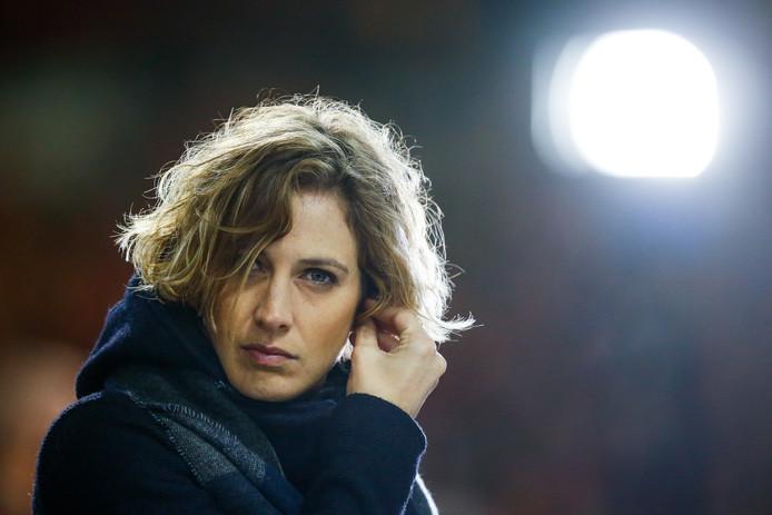 In België loopt tv-kijker weg met Imke Courtois als voetbalanalist.