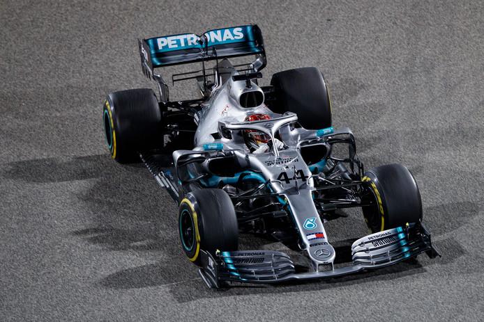 Wereldkampioen Lewis Hamilton.