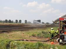 Grote brand in tarweveld bij Nieuwendijk