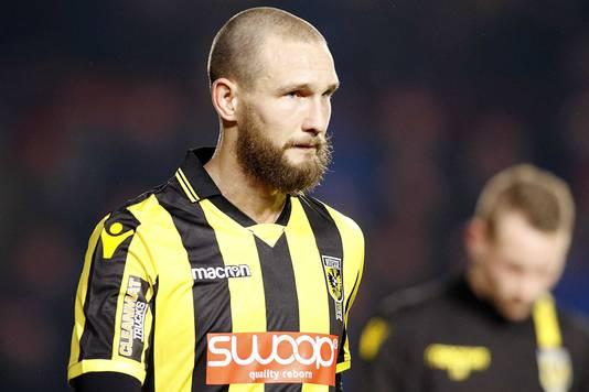 2017-12-23 22:37:04 EINDHOVEN , Philips Stadion , 23-12-2017 . PSV - Vitesse . Eredivisie seizoen 2017/2018 . Vitesse aanvaller Tim Matavz verlaat teleurgesteld het veld : eindstand: 2-1 .