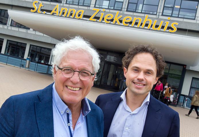 Cees-Rein van den Hoogenband (l) en Wart van Zoest (r).