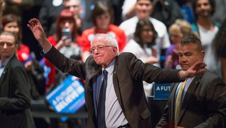Bernie Sanders op campagne in Chicago, Illinois. Beeld Getty