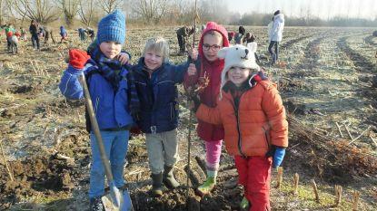 Leerlingen planten 10.000 eiken in stadsbos
