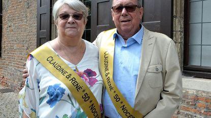 Huwelijksbootje René en Claudine vaart 50 jaar