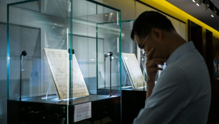 Het Mahler-manuscript. Beeld AFP