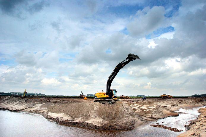 De Watertuinen in De Groote Wielen in aanbouw.