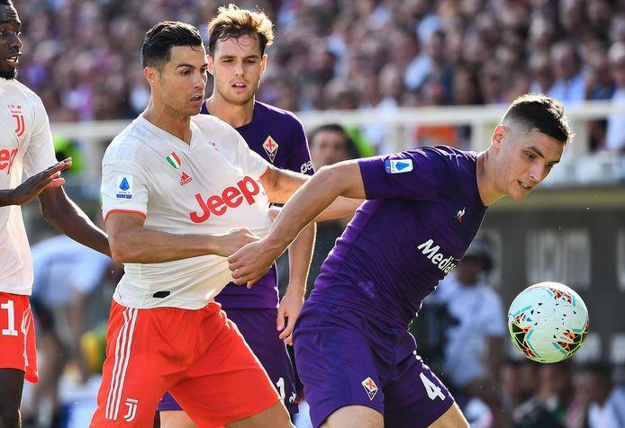 Cristiano Ronaldo kwam er niet aan te pas tegen Fiorentina.