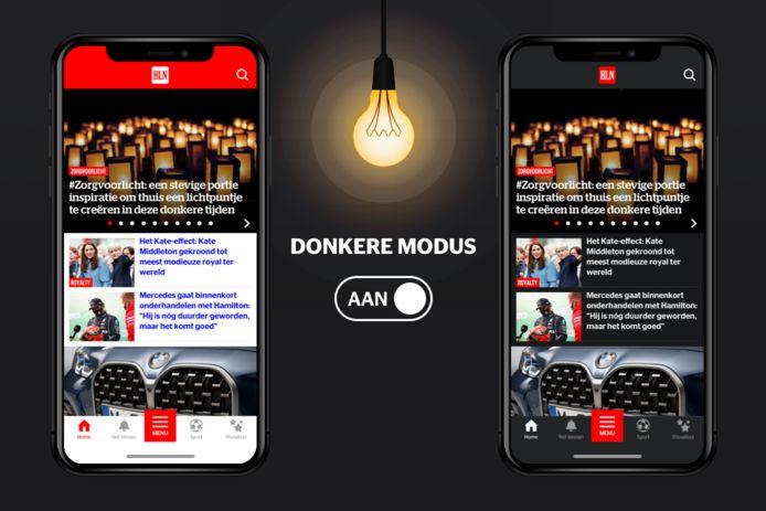 Activeer vanaf vandaag Donkere Modus (Dark Mode) in jouw HLN-app.