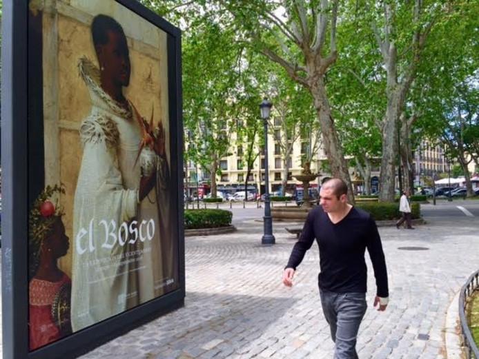 Vanaf dinsdag is de Bossche Jeroen Bosch te bewonderen in het Prado in Madrid (op de achtergrond).