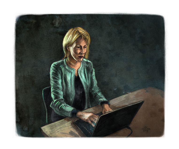 Misdaadverslaggever Wil Thijssen Beeld Jan Cleijne